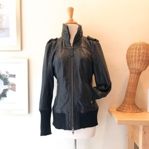 Excellent Condition Black Med Mackage Leather Coat